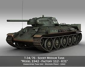 T-34-76 - Model 1942 - Soviet medium tank - 631