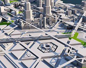 3D model Geometric City