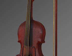 Fiddle Violin 3D asset