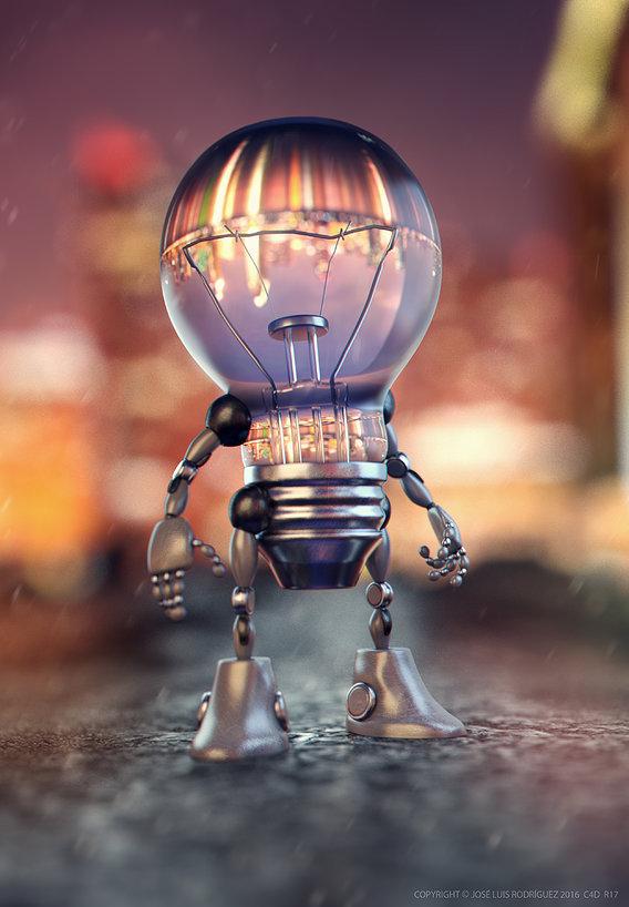 Robot Bulb