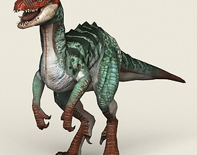 3D asset Game Ready Fantasy Raptor