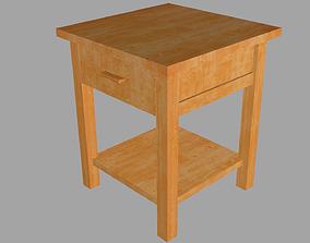 Bedside table 3D asset