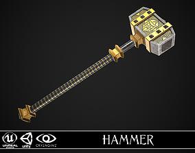 Fantasy Great Hammer 04 3D asset