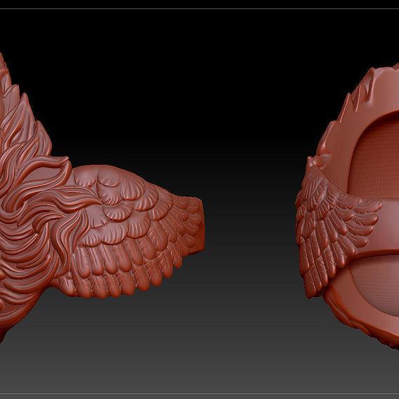 3D model the head of the bird