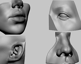 3D print model Lip Nose Eye Ear