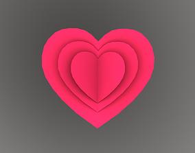 Greeting Card Heart 3D asset