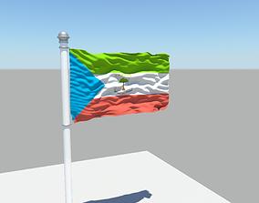 Equatorial Guinea flag 3D