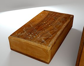 Wooden box 3D model low-poly