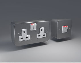 3D model Socket and Switch Industrial Outlet