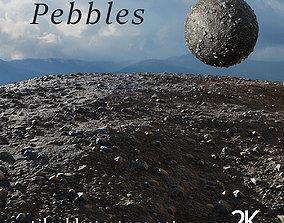 Pebbles tileable texture set 3D