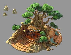 Plant house-tree house 3D
