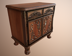 3D asset low-poly Luxurious Little Classical Cabinet