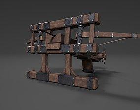 VR / AR ready Medieval Ballista Low-poly Game-ready 3D