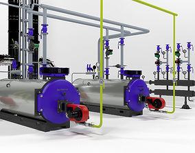 3D model Industrial boiler plant by Buderus SK655-250