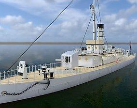 3D Nieugieta polish river gunboat laid down