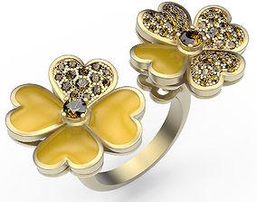 3D printable model Clover Ring
