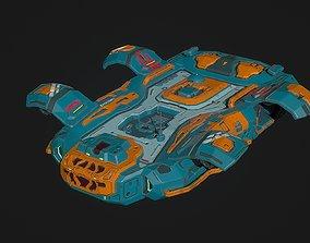 3D asset Sci fi shuttle spaceship