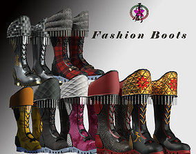3D model Fashion Boots Collection