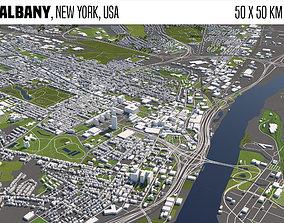 3D Albany New York USA 50x50km