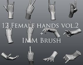 12 Female Hands vol2 3D