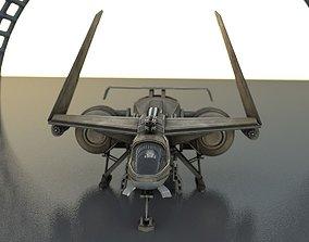 3D model Futuristic Combat Jet Rigged