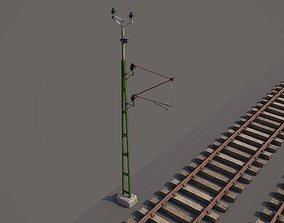 railway and overhead lines industrial 3D model