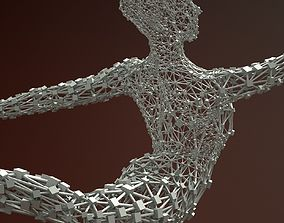 Ballerina Dancer Abstract Sculpture 8 3D model