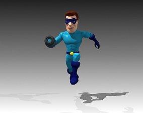 Super Hero 3D asset