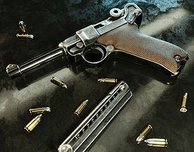 Luger P08 -Parabellum WWII pistol 3D model