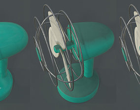 3D model low-poly Dusty Rusty Clean Vintage fan
