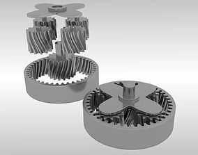 Animated planetary gears 3D