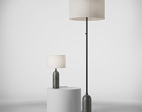 3D GUBI Gravity Table and Floor Lamp