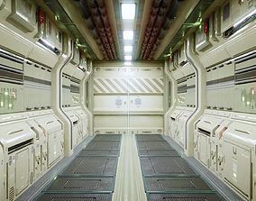 Modular Sci Fi Corridor 3D model game-ready