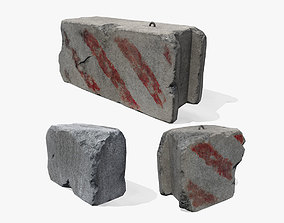 Concrete Block 3D model realtime