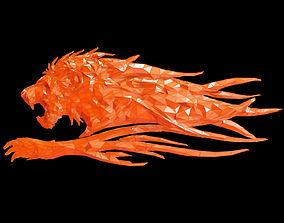 3D asset Abstract Poly-style Lion siluet