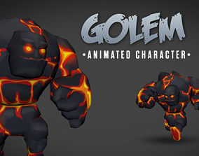 3D model Golem animated chatacter