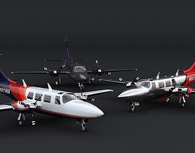 3D model Piper Aerostar 700