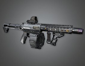 3D asset FPS Modern Shotguns - MSG - Raptr - PBR Game