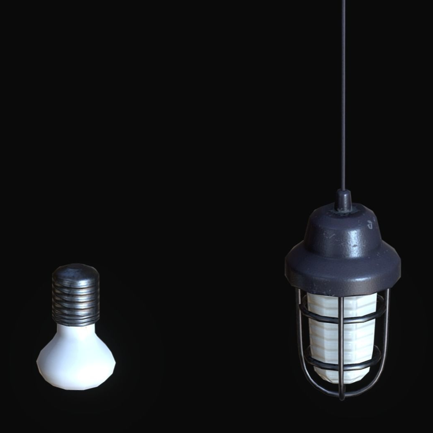 OLD LAMPS - Low-poly 3D model