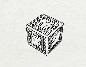 3D printable model Baby Block Charm - Y