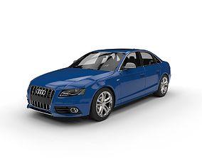 Audi S4 Car c4d vray Low Poly 3D asset