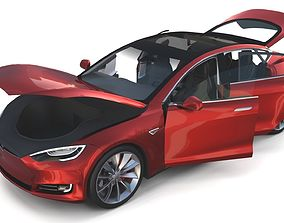 Tesla Model S 2016 Red with interior