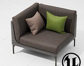 Dedon Mu Chair 002 UE4 3D asset