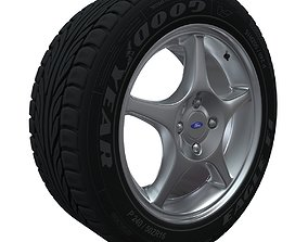 3D Car Wheel Ford Focus