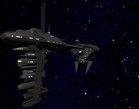 STAR WARS - NEBULON B FRIGATE 3D asset low-poly