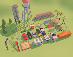 Low Poly Colection 3D model