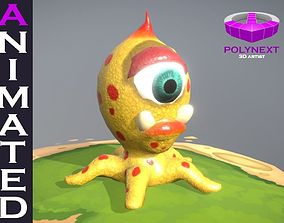 3D asset animated Octopus virus bacteria or aliens