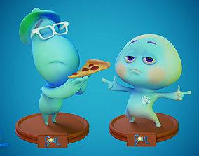 joe Gardner and 22 - Soul Disney Pixar 3D print model