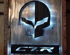 imsa Corvette Jake 3D Garage Art