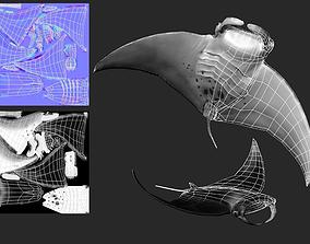 game-ready 3D MantaRay